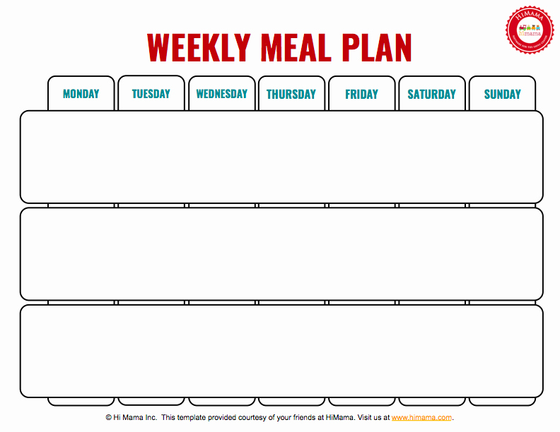 Lunch Menu Template Free Unique Himama Daycare Menu Template Child Care Weekly Menu