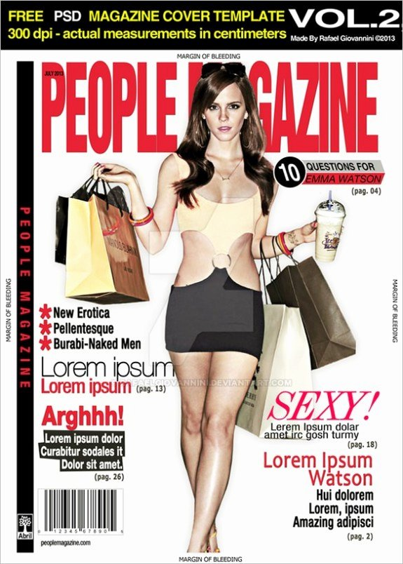 Magazine Cover Template Psd Beautiful 13 Magazine Cover Templates Psd Designs Papers