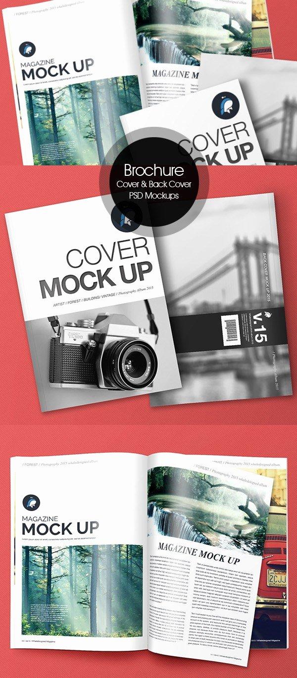 Magazine Cover Template Psd Beautiful 50 Free Psd Magazine Book Cover & Brochure Mockups