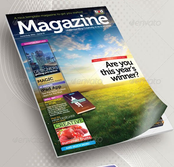 Magazine Cover Template Psd Beautiful 50 Indesign & Psd Magazine Cover & Layout Templates