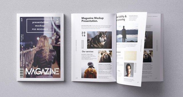 Magazine Cover Template Psd Fresh Psd Magazine Mockup Vol9 Psd Mock Up Templates
