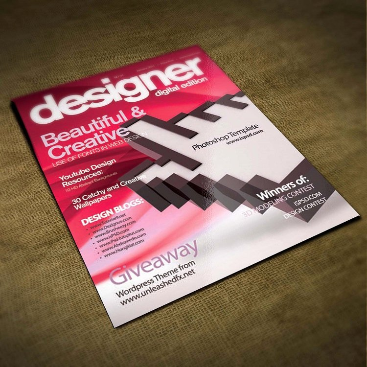 Magazine Cover Template Psd Lovely 30 Best Free Psd Flyer Templates