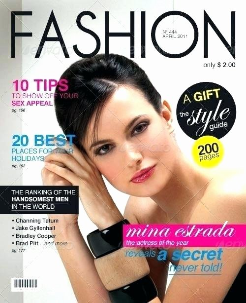 Magazine Cover Template Psd Luxury This is A Fashion Magazine Cover Design Template Download