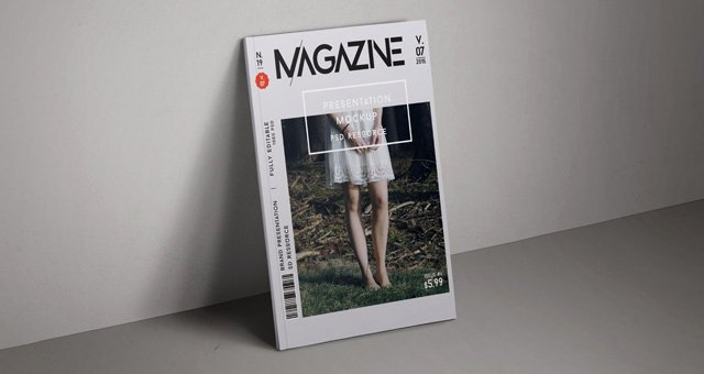 Magazine Cover Template Psd New Psd Magazine Mockup Cover Vol7
