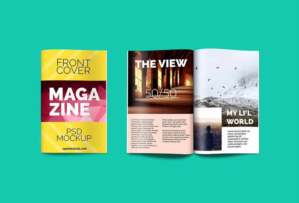 Magazine Cover Template Psd Unique Magazine Psd Mockup Graphicsfuel
