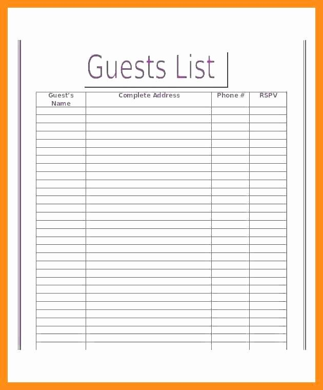 Magazine Template Google Docs Awesome 12 13 Guest List Template Google Docs