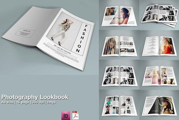 Magazine Template Google Docs Awesome Indesign Graphy Lookbook V208 Brochure Templates