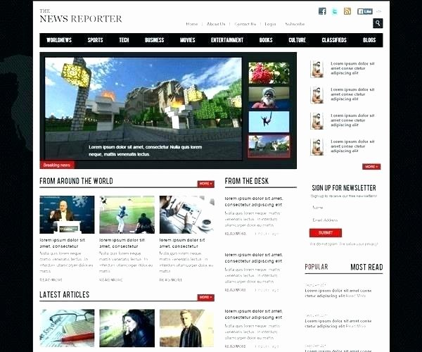 Magazine Template Google Docs Elegant Line Magazine Article Template Style Newspaper Layout