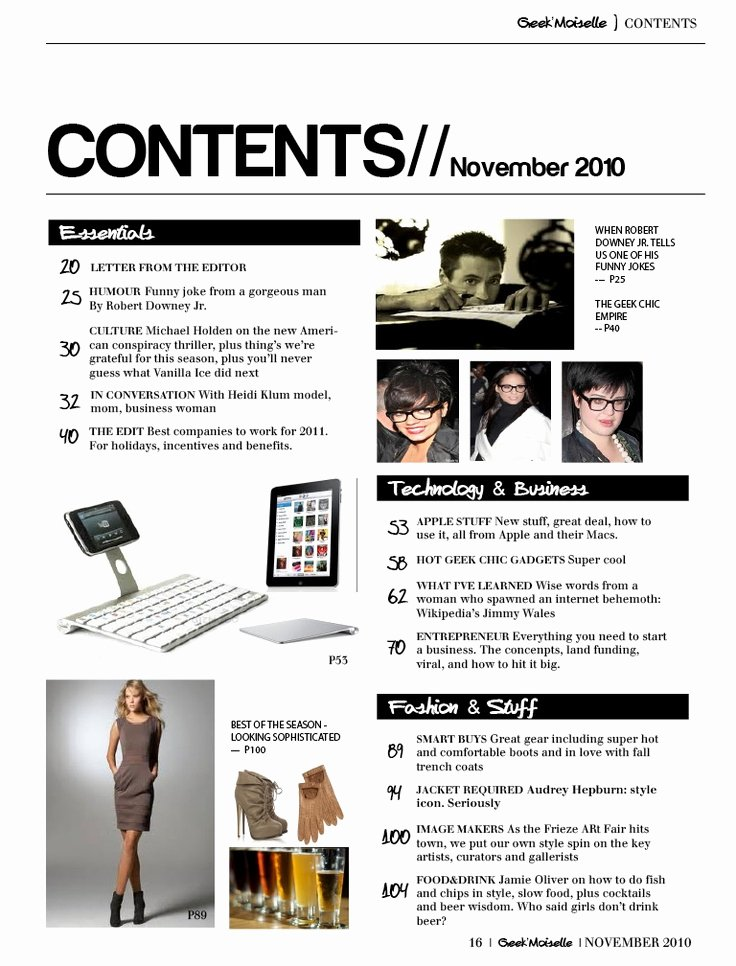 Magazine Template Google Docs Luxury 14 Best Magazine Table Of Contents Page Design Images On