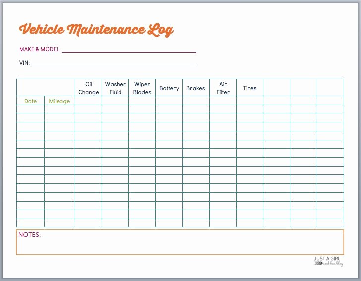 Maintenance Log Template Excel Unique Best 20 Vehicle Maintenance Log Ideas On Pinterest