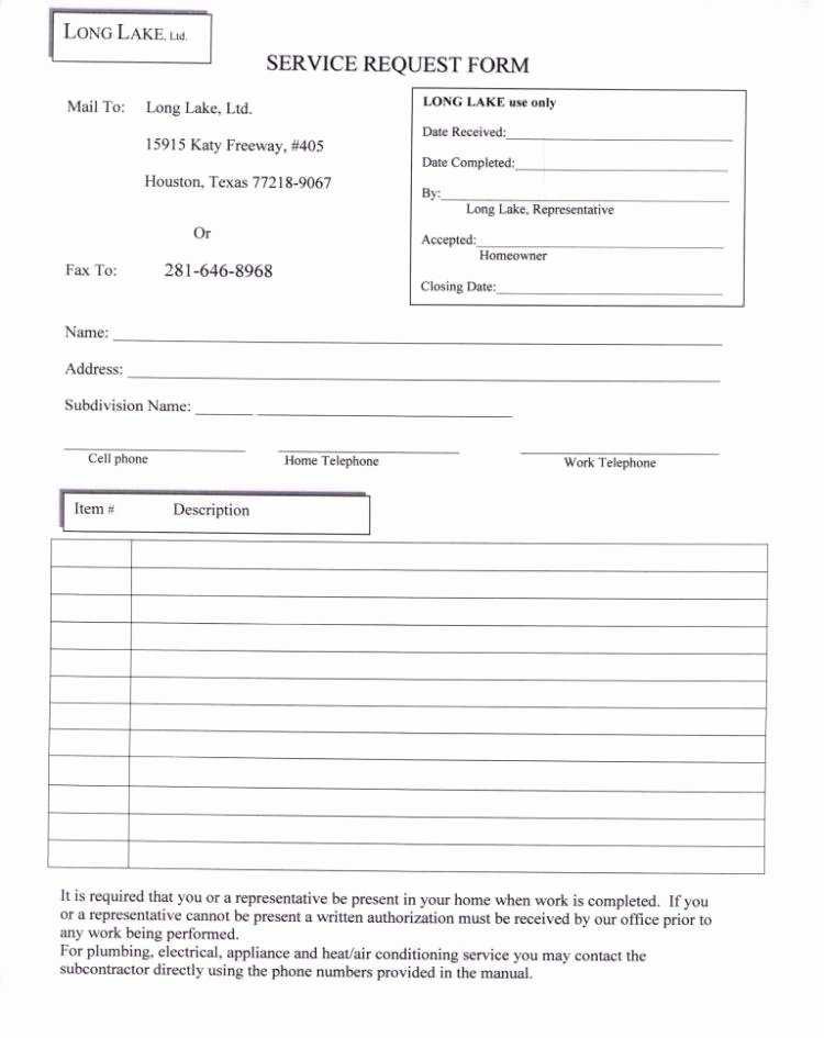 Maintenance Request form Template Best Of Service Request form Templates Word Excel Samples
