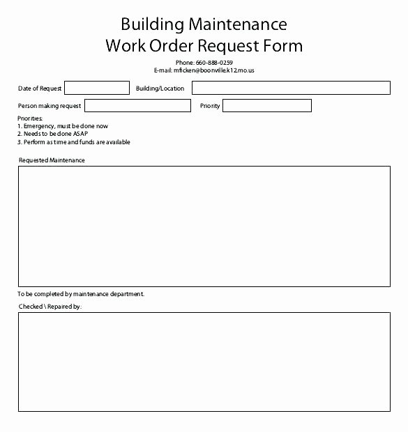 Maintenance Request form Template Inspirational Maintenance Request Template Maintenance Request form