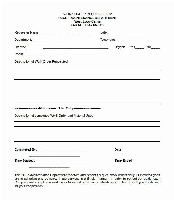 Maintenance Work order Template Elegant Work order Template 23 Free Word Excel Pdf Document