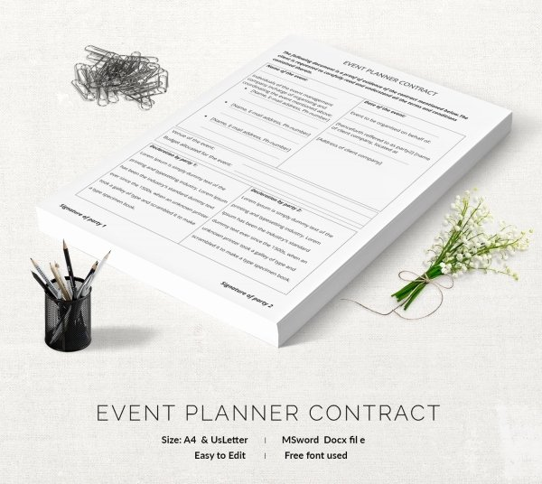 Makeup Artist Contract Template Beautiful event Contract Template 18 Free Word Excel Pdf