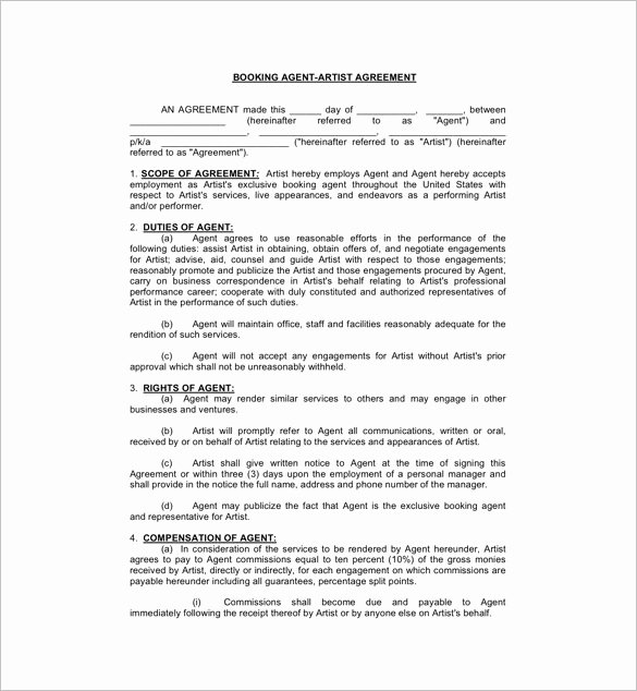 Makeup Artist Contract Template Best Of Artist Agency Contract Template Templates Resume