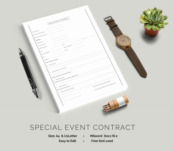 Makeup Artist Contract Template Unique event Contract Template 18 Free Word Excel Pdf