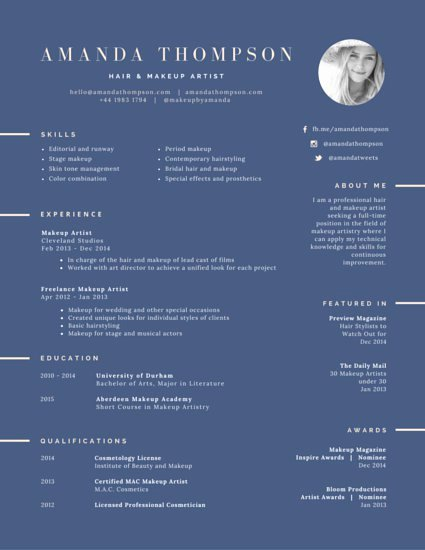 Makeup Artist Resume Template Best Of Hair and Makeup Artist Resume Templates by Canva