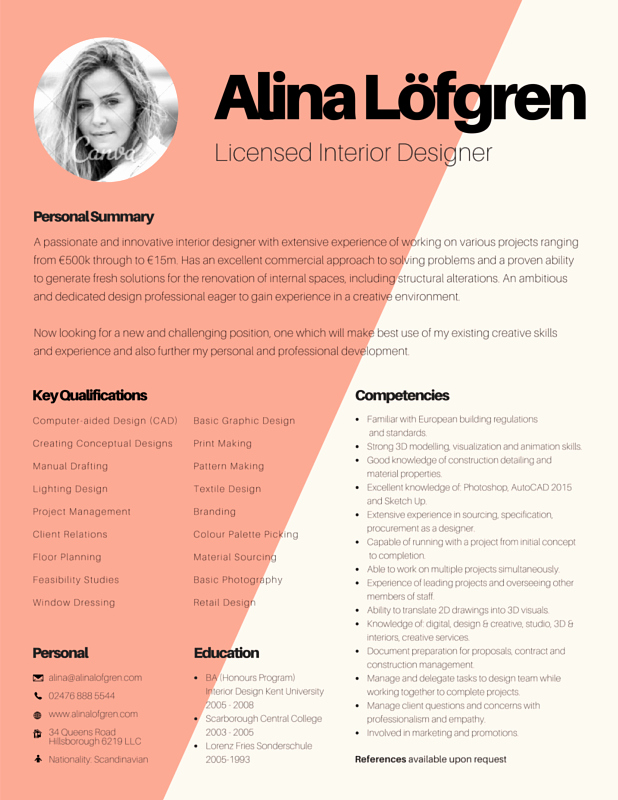 Makeup Artist Resume Template New Résumé Templates Canva