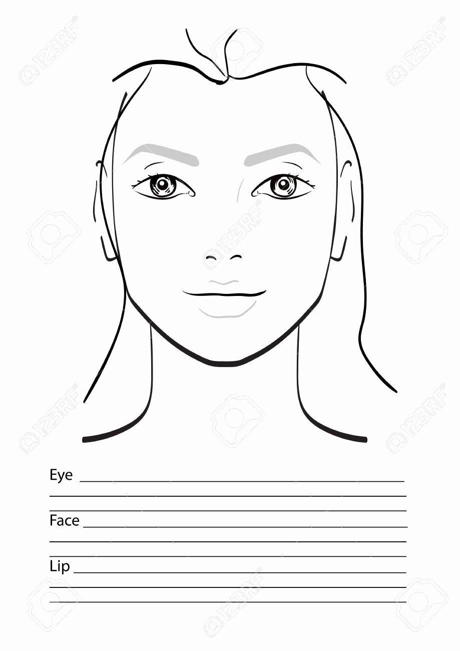 Makeup Artist Website Template Awesome Face Chart Makeup Artist Blank Template Vector