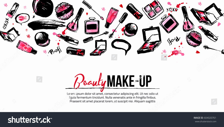 Makeup Artist Website Template Best Of Site Banner Template Makeup Artist Studio Stock Vector