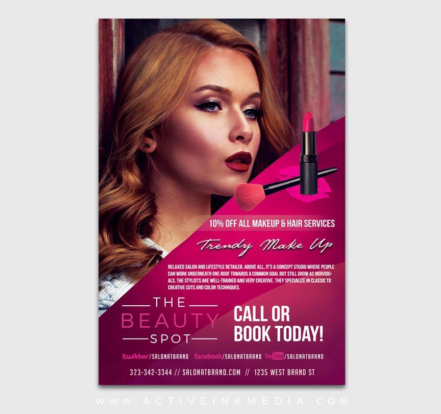 Makeup Artist Website Template Elegant Make Up Artist Flyer Template