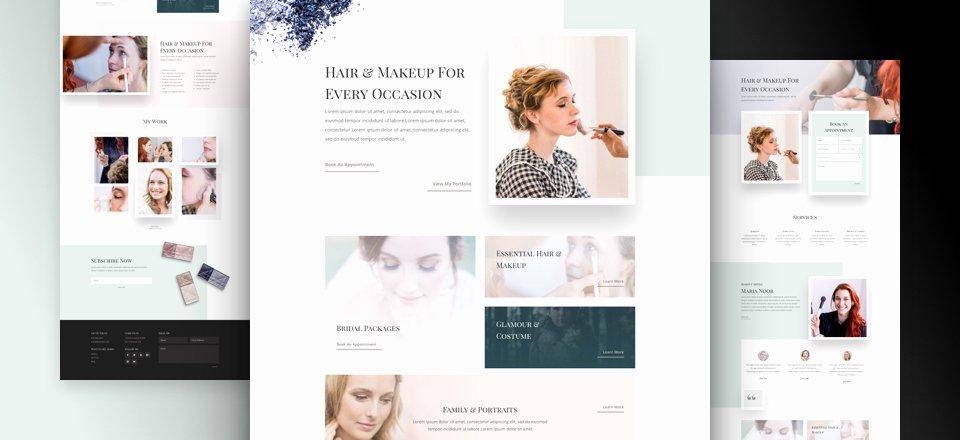 Makeup Artist Website Template Fresh Get A Free Makeup Artist Layout Pack for Divi