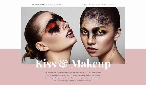 Makeup Artist Website Template Fresh Website Templates