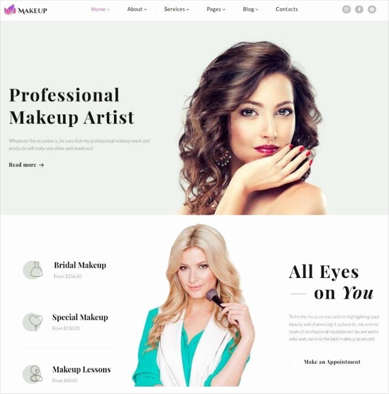 Makeup Artist Website Template Inspirational 10 Best Makeup Artists Website Templates
