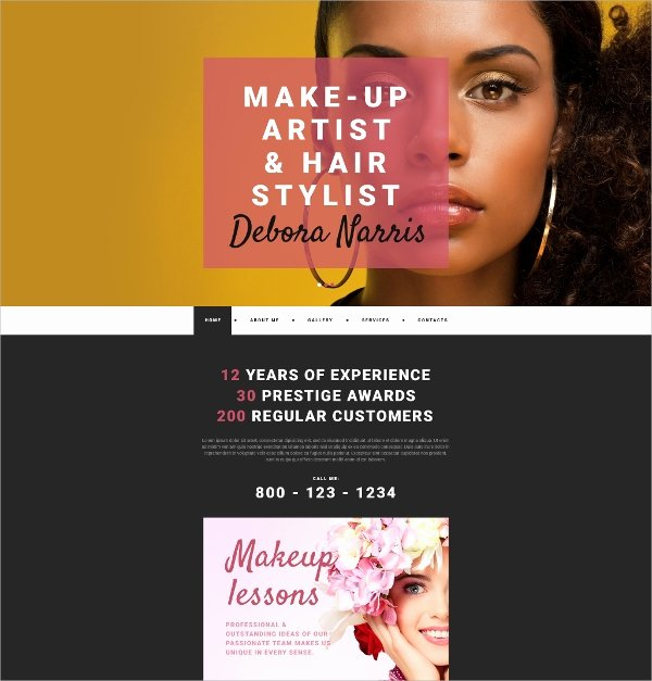 Makeup Artist Website Template Inspirational 32 Personal Website themes & Templates