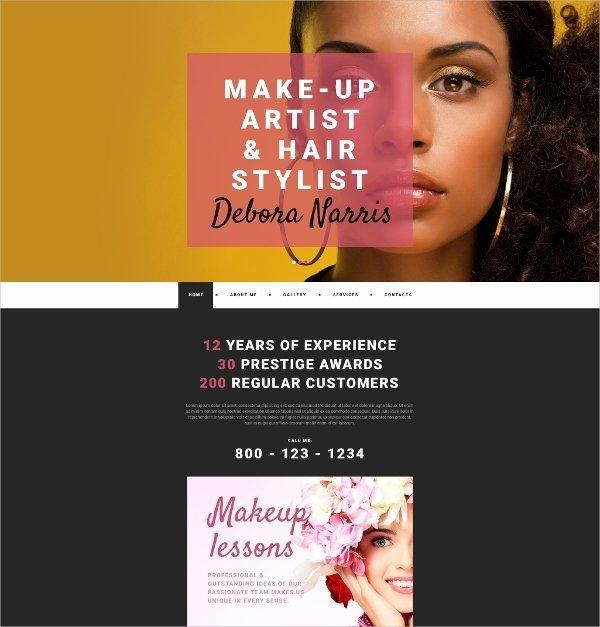 Makeup Artist Website Template Inspirational 32 Personal Website themes & Templates
