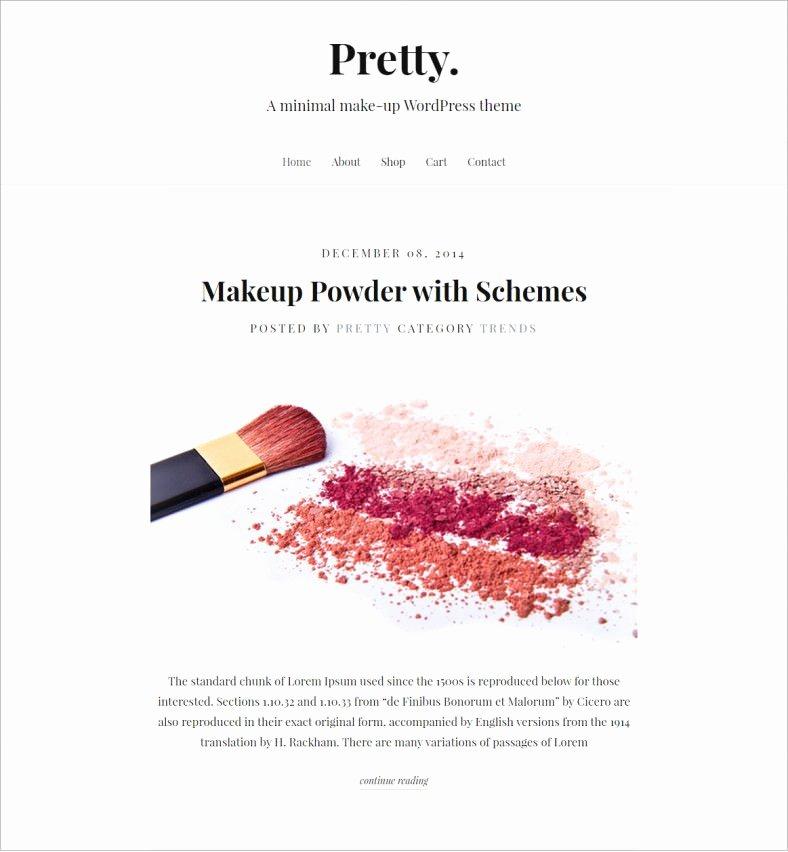 Makeup Artist Website Template Luxury 15 Make Up Artists Wordpress themes & Templates