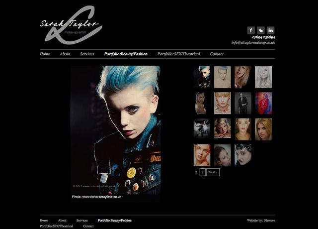 Makeup Artist Website Template Luxury New Logo Design and Web Design for Sarah Taylor 9thwave