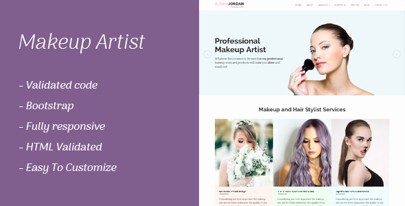 Makeup Artist Website Template Unique Makeup Artist Responsive Template by Smartpixelz