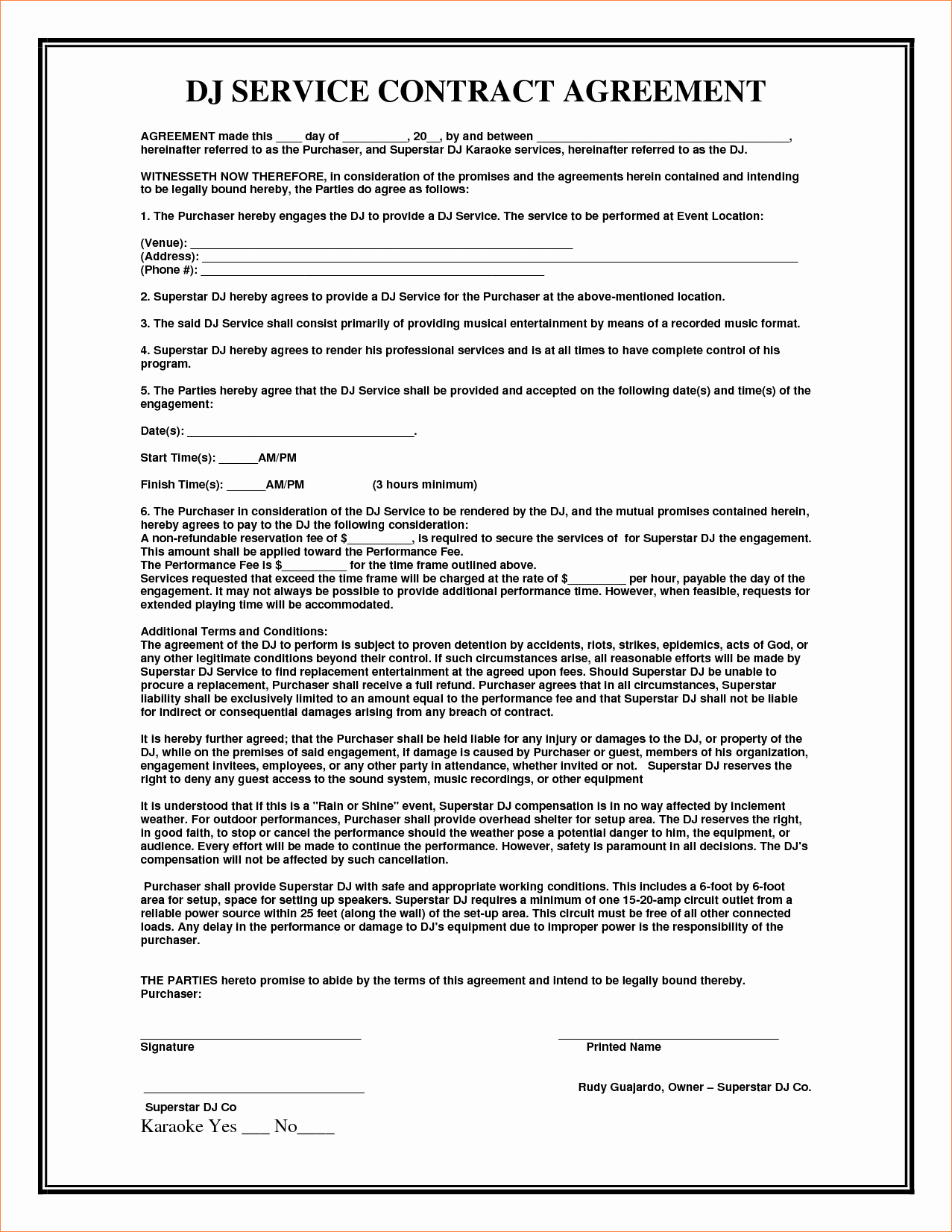 Managed Service Agreement Template Unique Contract for Services Agreement