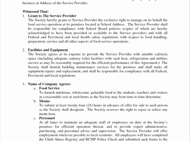 Managed Service Agreement Template Unique Medical Equipment Service Agreement Template Equipment