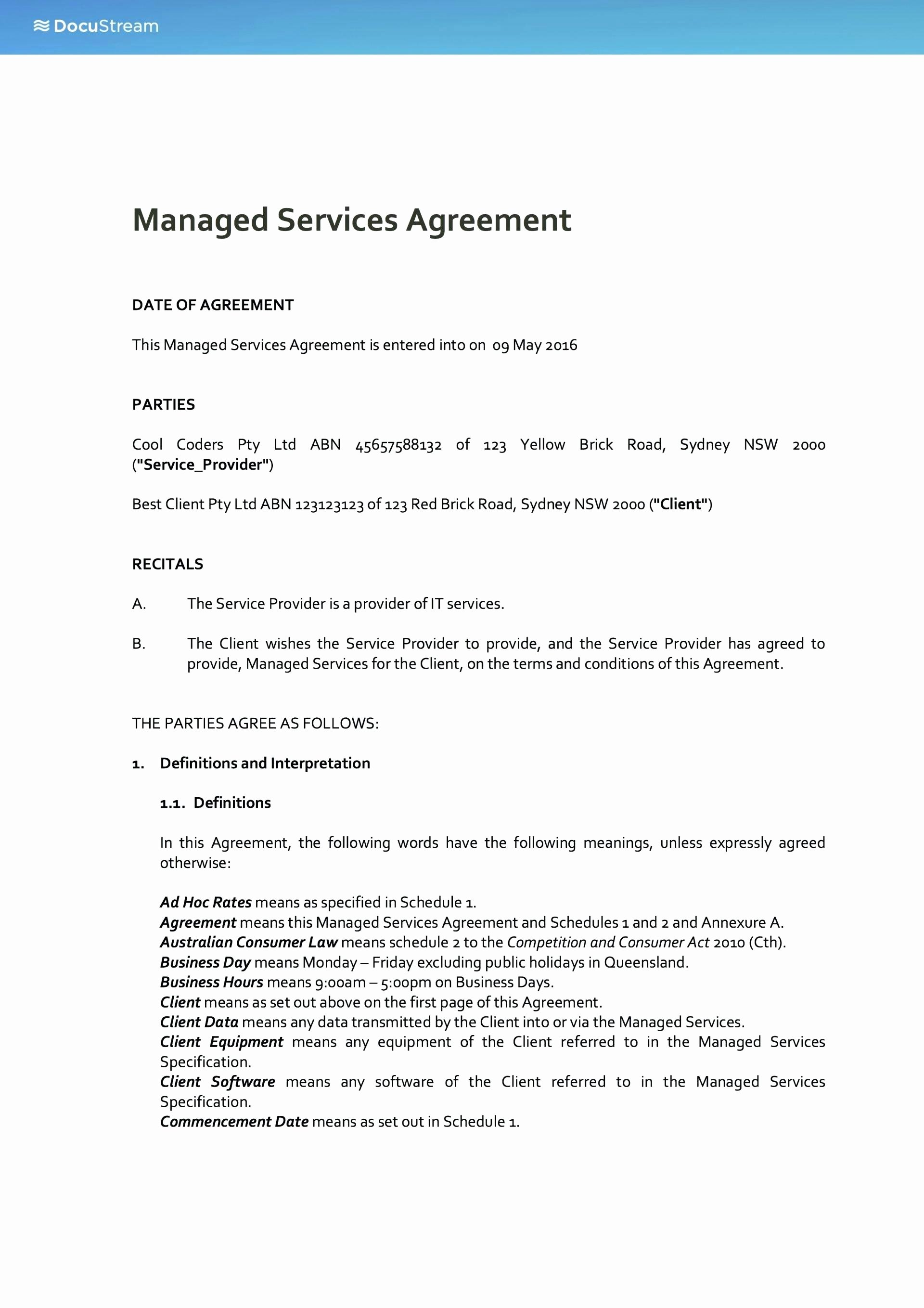 Managed Services Proposal Template Awesome Managed Service Provider Business Plan Managed Service