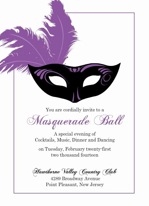 Mardi Gras Invitation Template Beautiful Flashy Purple Mask Mardi Gras Invitation by Purpletrail
