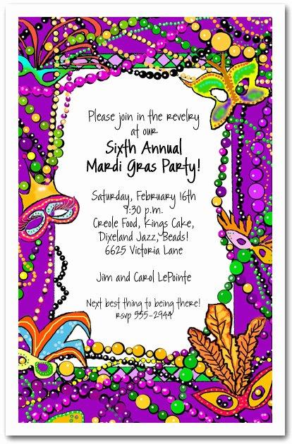 Mardi Gras Invitation Template Beautiful Mardi Gras Fun Party Invitation Mardi Gras Invitations