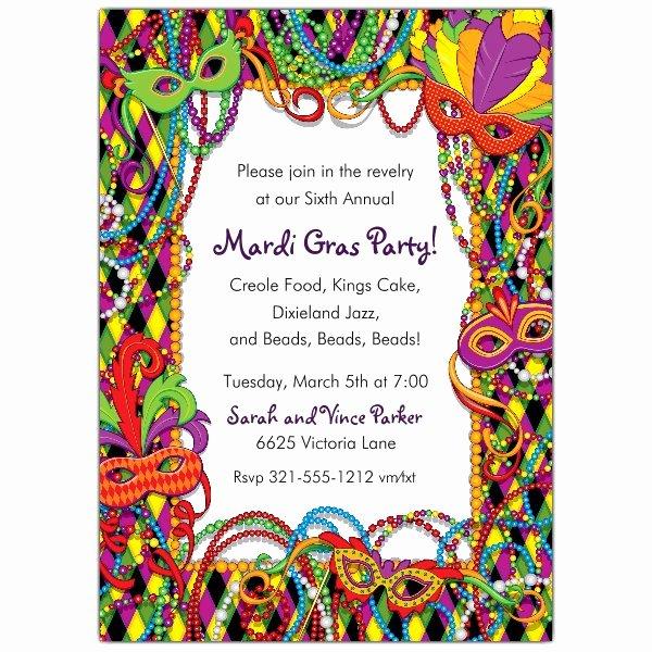 Mardi Gras Invitation Template Fresh Mardi Gras Plaid Invitations