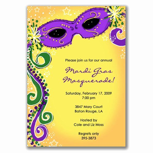 Mardi Gras Invitation Template Inspirational Blank Masquerade Invitations