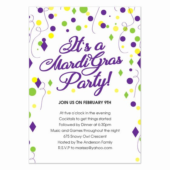 Mardi Gras Invitation Template Inspirational Mardi Gras Party Evite Invitations & Cards On Pingg