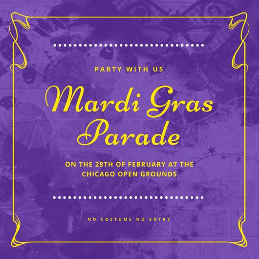 Mardi Gras Invitation Template Lovely Customize 86 Mardi Gras Invitation Templates Online Canva