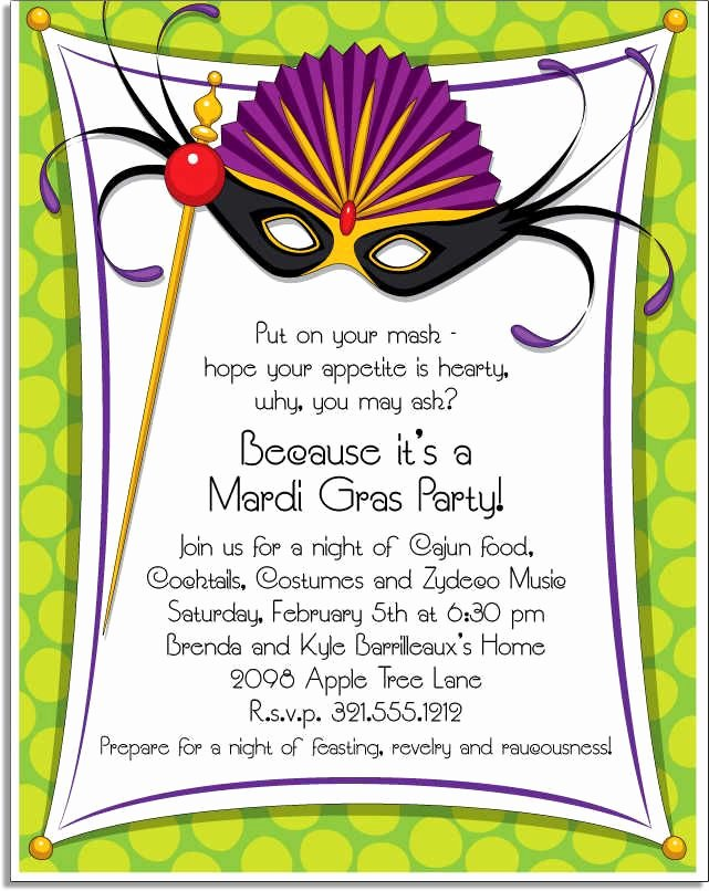 Mardi Gras Invitation Template Lovely Mardi Gras Invitation Wording