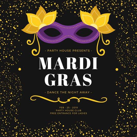 Mardi Gras Invitation Template Lovely Party Invitation Templates Canva