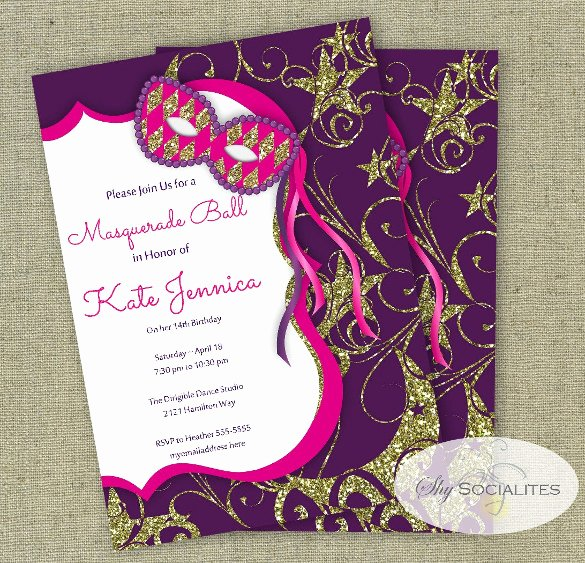 Mardi Gras Invitation Template Luxury 24 Masquerade Invitation Templates Word Psd Ai Eps