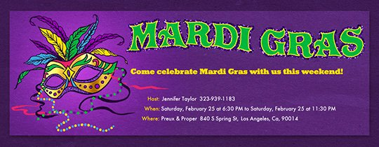 Mardi Gras Invitation Template Luxury Free Mardi Gras Invitations