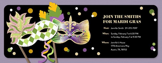 Mardi Gras Invitation Template New Free Mardi Gras Invitations