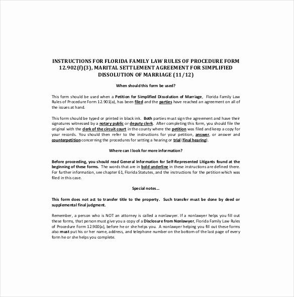 Marital Settlement Agreement Template Awesome 20 Settlement Agreement Templates Word Pdf Pages