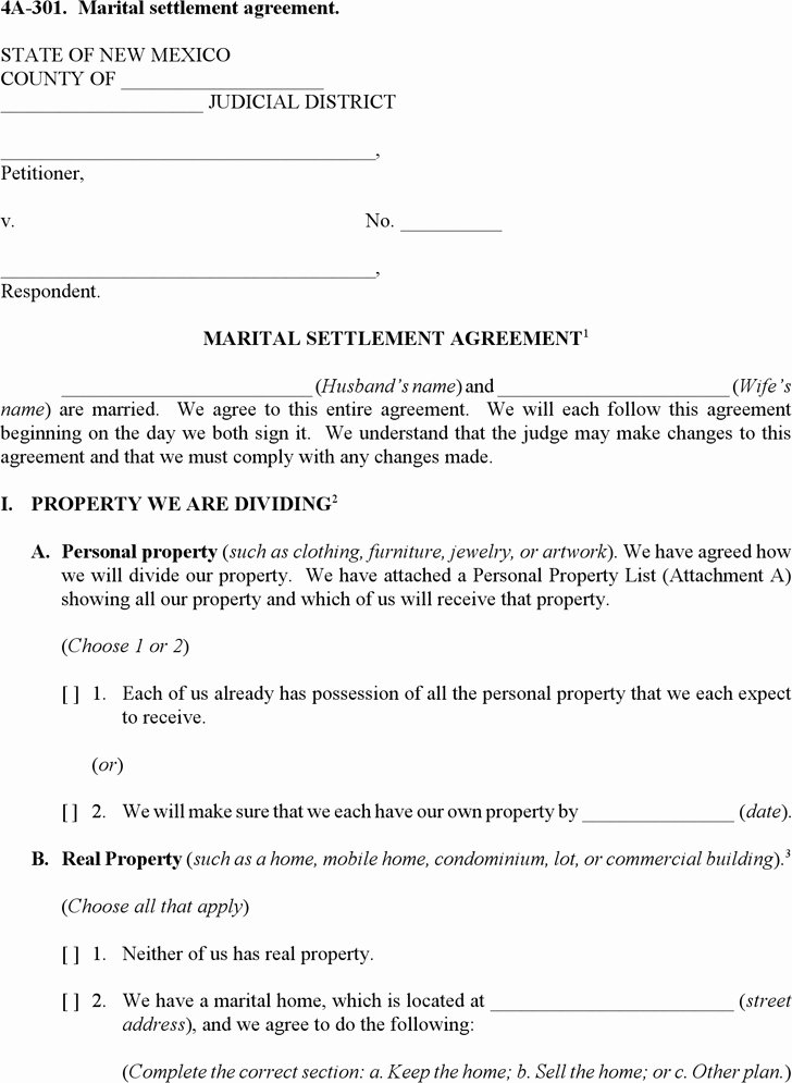 Marital Settlement Agreement Template Fresh Marital Settlement Agreement Template