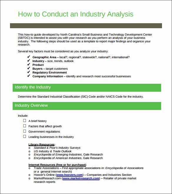 Market Analysis Report Template Lovely 12 Industry Analysis Templates Doc Pdf
